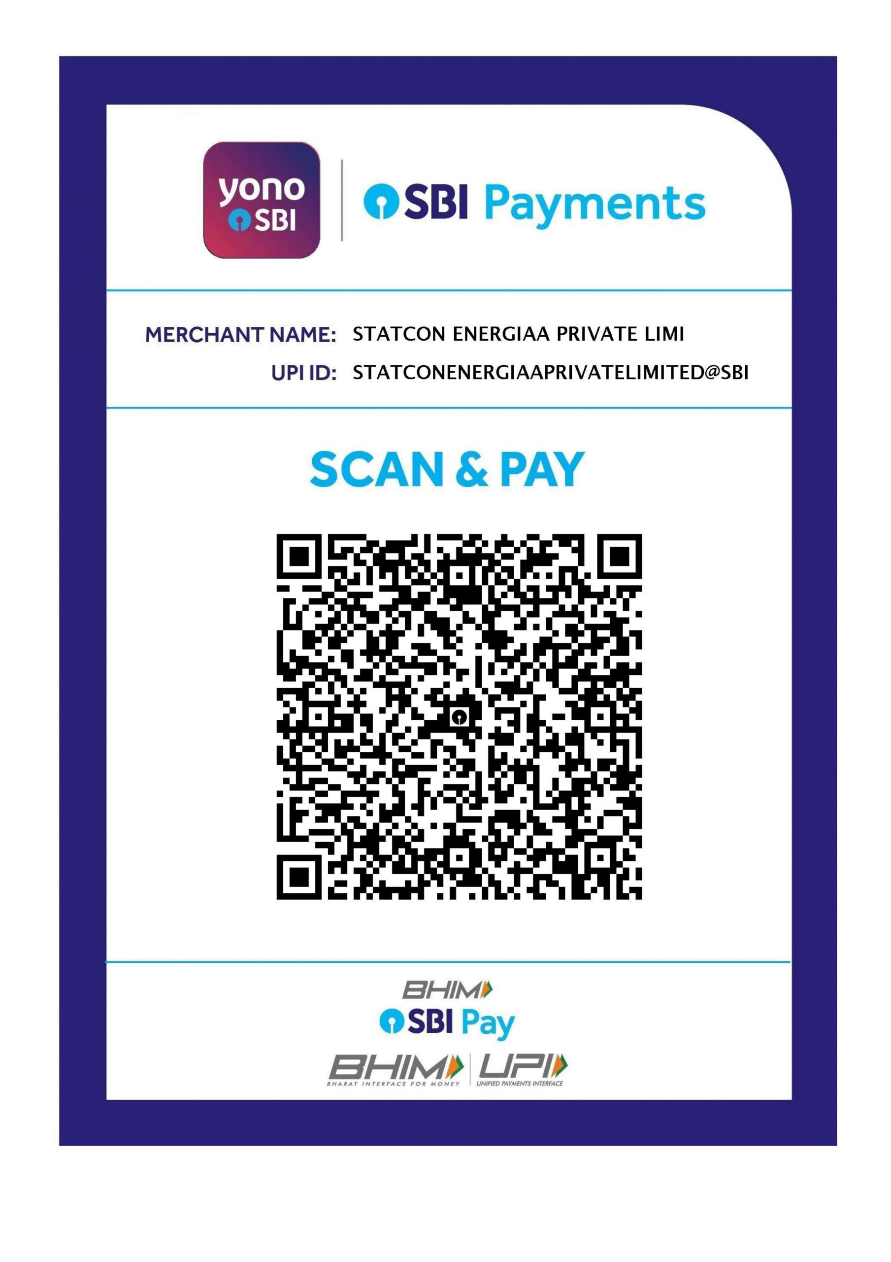 Payment QR Code Statcon Energiaa